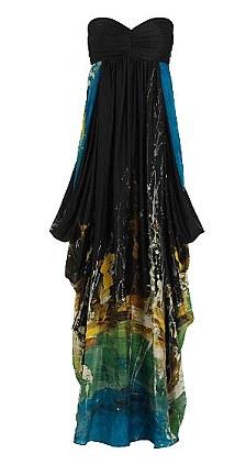 feather bandeau dress