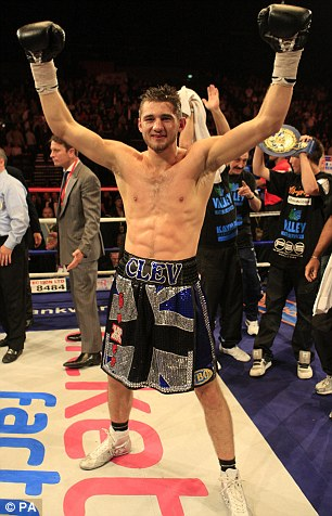 The new Pride of Wales: Cleverly has vowed to emulate Calzaghe