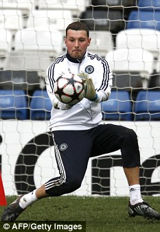 Dream: Chelsea keeper Ross Turnbull faces the club he supported as a boy