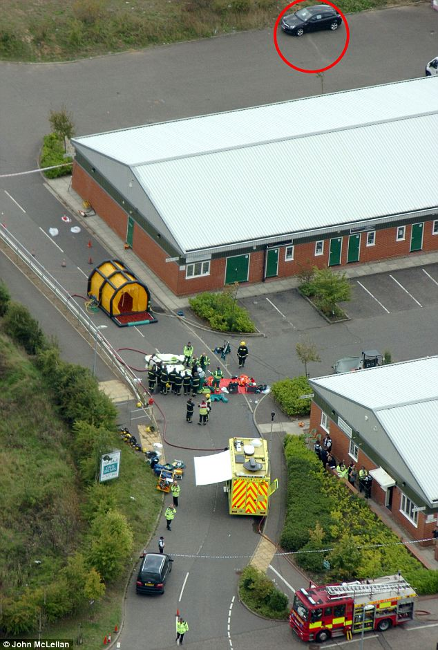 Aerial picture of the scene where the car was found