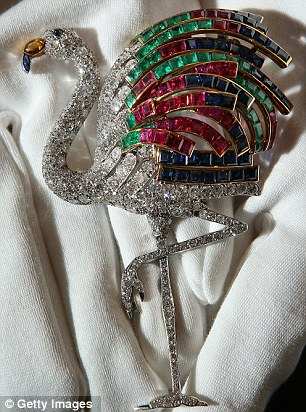 A Cartier flamingo diamond clip from 1940 estimated at £1,000,000 - £1,500,00