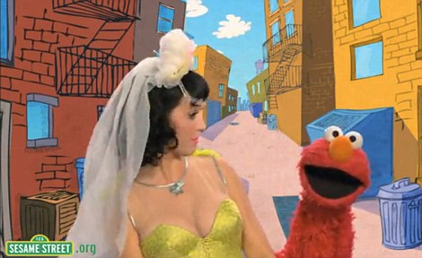 Katy Perry music video Sesame Street Elmo