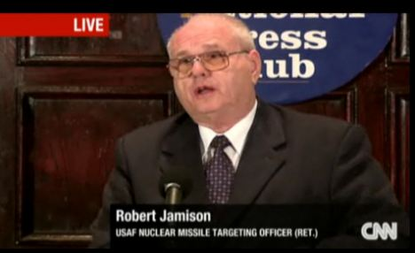 Robert Jamieson was one of the retired officers who joined the press conference to tell of his experience with UFOs