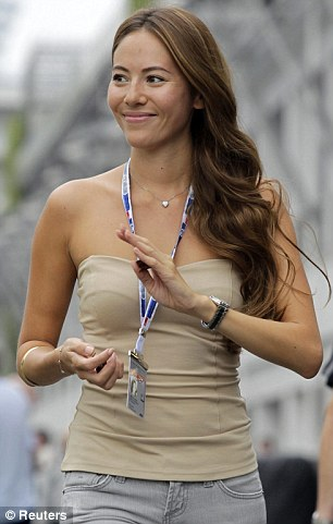 In fashion once more: Jessica Michibata is back with Jenson Button