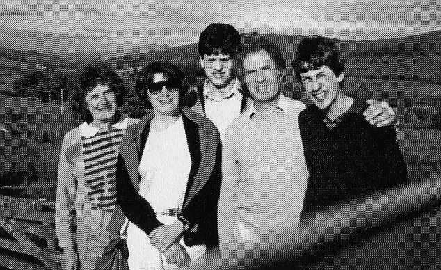 Family: (From left) Marion, Hadassa, David, Ralph and Edward on holiday in Scotland in 1987