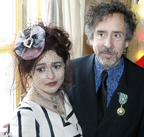 Living apart together: Helena Bonham Carter and Tim Burton, who have been a couple for ten years, live in adjoining apartments in West Hampstead