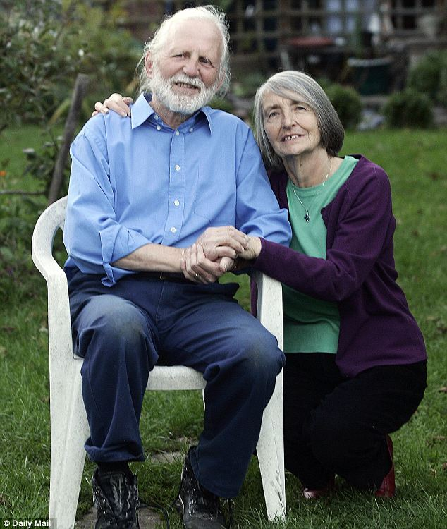 'It's wonderful': Alzheimer's sufferer Derek Quinn, pictured with wife Teresa, said he will 'now be able to do something positive' about his condition