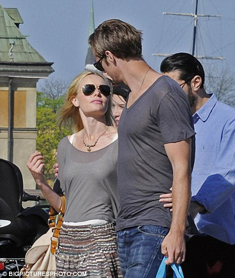 From Hollywood to home town: Skarsgard and  Bosworth enjoyed a visit to Stockholm, Sweden on May 18