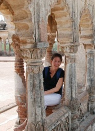 Adventure: Linda on holiday in India earlier this year