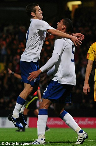 Bright young things: Chris Smalling (right) and Jack Wilshere hope to play major roles for England in the future