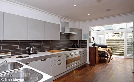 Good taste: The stunning kitchen of their Wandsworth house