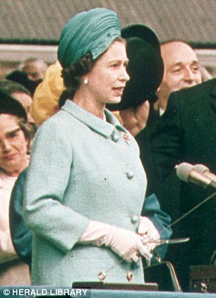 Royal blessing: The Queen launching the QE2 in 1967