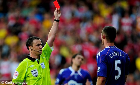 Take a break: Referee Stuart Attwell has been axed by the Premier League for this weekend's fixtures
