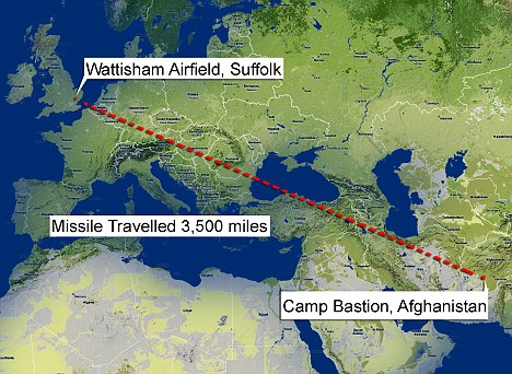 It's quicker by post: the lethal package journeyed 3,500 miles across Europe to the UK