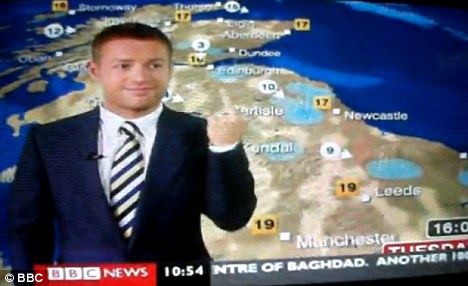 Schafernaker was caught making an obscene gesture at a colleague during a breakfast broadcast in August