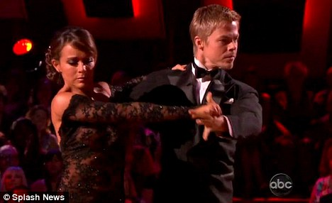 Perfect ten: Jennifer scored two top marks from the judges on the most recent Dancing With The Stars
