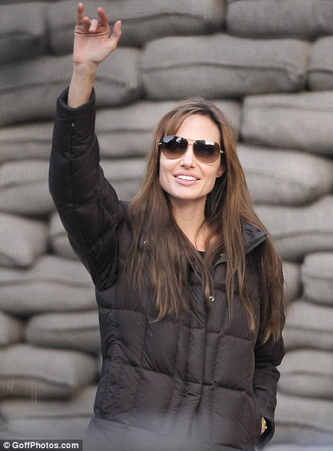 Banned: Angelina Jolie is currently filming in Budapest, Hungary, but has been denied entry to Bosnia