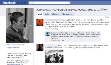 """Supporters are signing up on Facebook to back the avant-garde composer John Cage's silent work 4'33"""""""