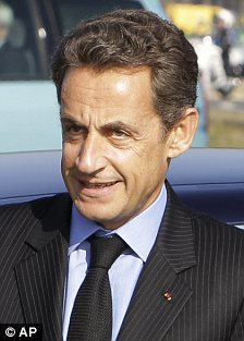 Challenge: Former actress Brigitte Bardot (left) wants to run against French president Nicholas Sarkozy in the next election in 2012