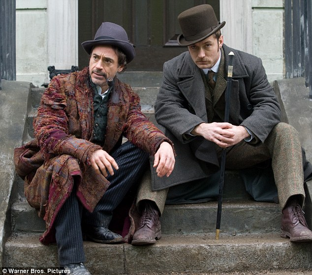 Steps to success: Robert and Jude in a still from last year's big screen outing, Sherlock Holmes
