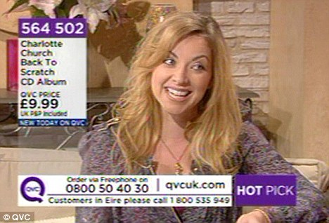 Plugging away: Charlotte Church talks about her new album Back To Scratch during her appearance on QVC yesterday