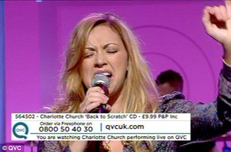 Belting it out: Charlotte said she wasn't bothered where her album charted