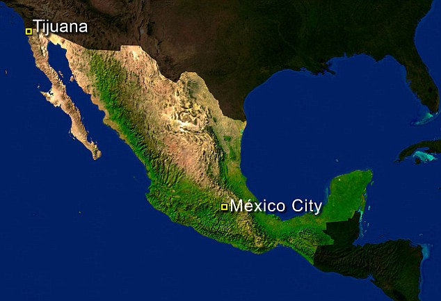 Border: The city of Tijuana is located at the north of Mexico - across the border is San Diego