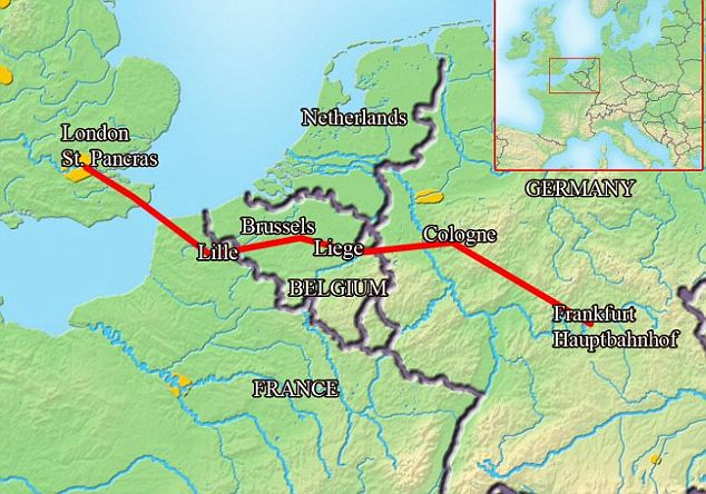 The ICE train route from London will slash journey times to Frankfurt