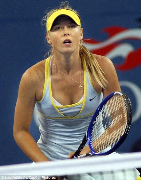 MARIA SHARPOVA\nPlays Nadia Petrova at The US Open Tennis Tournament held at Flushing Meadows,