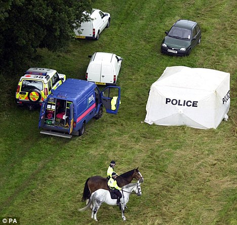 Scene: An aerial view of Harrowdown Hill in Oxfordshire where Dr Kelly's body was found