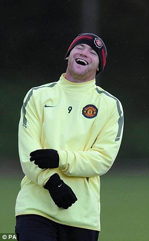 No laughing matter: Wayne Rooney is out of action with an ankle injury