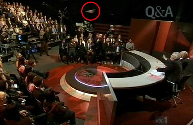 An Iraq war protester hurled his shoes at former Australian prime minister John Howard on live television Monday. It was Howard's his first television appearance since losing office in 2007