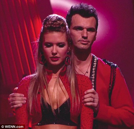 Heading home: Audrina Patridge and dance partner Tony Dovolani learn they have been eliminated from Dancing With The Stars