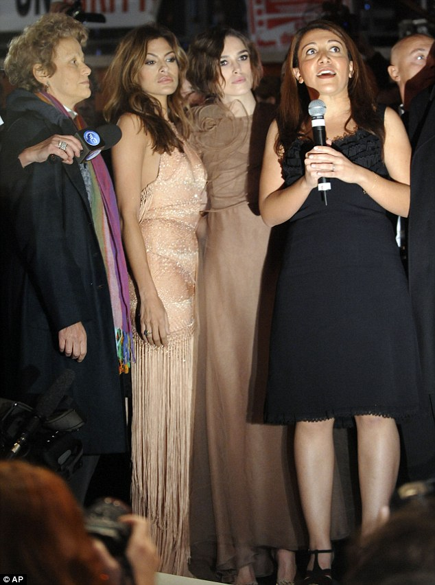 Overshadowed: Both actresses, who play rival beauties in the film, wore spectacular gowns for the evening, but didn't get much chance to show them off
