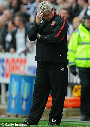 Head-scratcher: Sunderland boss Steve Bruce was at a loss to describe his team's performance