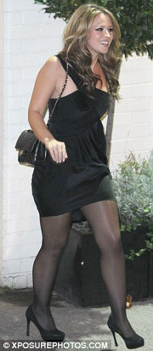 She loves an LBD: Kimberley looked curvier as she left the X Factor last month