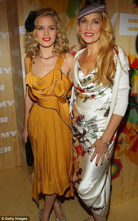 Like mother, like daughter: Jerry Hall and her daughter Georgia May Jagger attended Crown Oaks Day as judges for the fashion parade