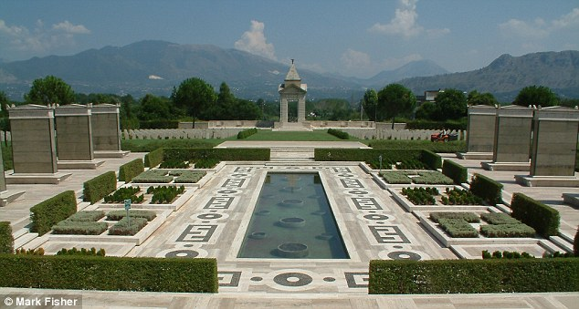 Cassino War Memorial, Italy, which is inscribed with 'Waters E F'