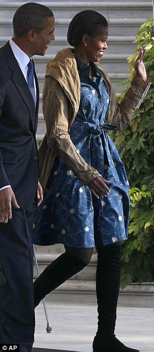 Michelle Obama leaves the White House Friday
