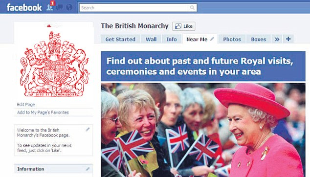 The British Monarchy: This is how the real page will look