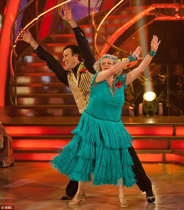 Comedic: Ann Widdecombe's performance of the Charleston went down well with viewers but not the judges