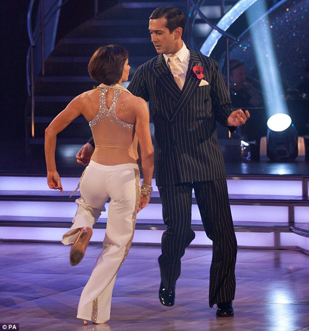 'Light and bouncy and fluffy': The couple impressed the judges with their quickstep on Saturday night