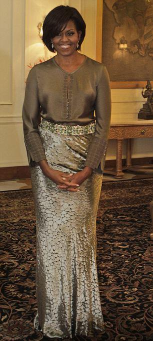 U.S. First Lady Michelle Obama at Rashtrapati Bhavan