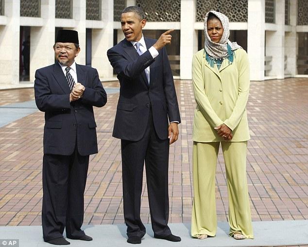 Obamas in Indonesia