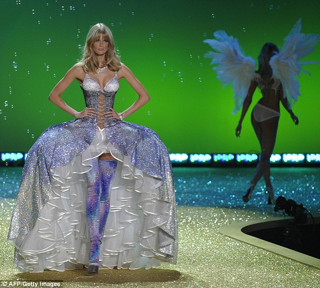Hips don't lie: Julia Stegner wore an incredible creation that featured exaggerated hips and plenty of ruffles