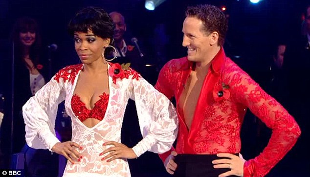 Passion: Michelle Williams and Brendan Cole's paso doble started off with enough aggression but went 'soft' according to the judges