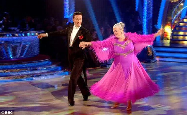 Throwing shapes: The pair tripping the light fantastic before the judges