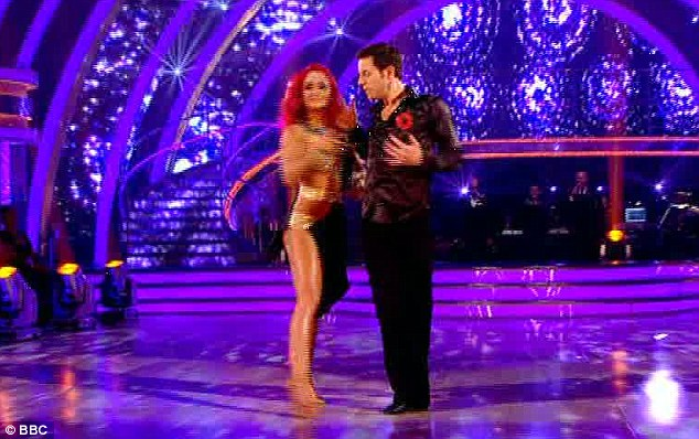 Tough routine: Matt Baker and Aliona Virshalis danced the difficult rhumba to the Sugababes' Too Lost In You