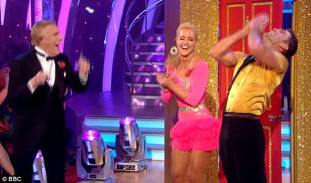Thrilled: Scott was chuffed to bits after his scintillating jive which host Bruce Forsyth declared 'incredible'