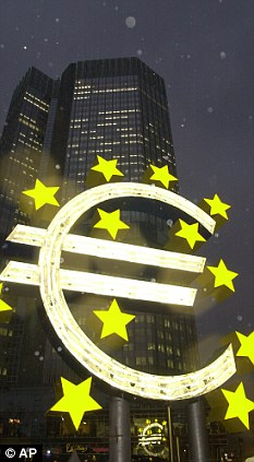 Come a long way: The single European currency was launched in 2002 but could be on the brink of failure